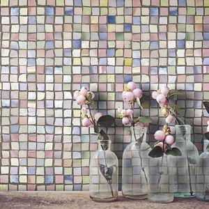 mosaico de interior / de pared / de cerámica / cuadrado