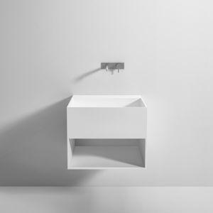 mueble de lavabo suspendido / de Corian® / contemporáneo