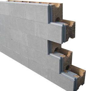bloque de encofrado de hormigón madera / para muro / aislante