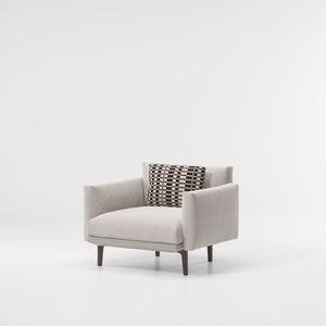 sillón contemporáneo / de tejido / de acero / de aluminio