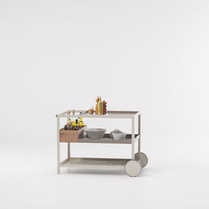 mesa carrito de jardín / para habitación de hotel / para uso residencial / de metal