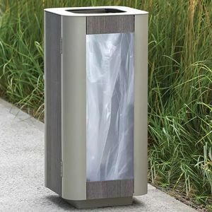 soporte de bolsa de basura público