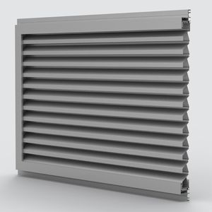 rejilla de ventilación de aluminio / rectangular / para fachada / antiefracción