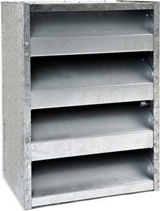 rejilla de ventilación de acero galvanizado / rectangular / acústica