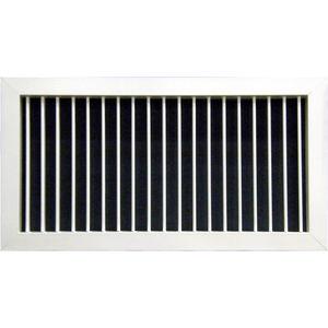 rejilla de ventilación de aluminio anodizado / de chapa de acero / rectangular / ajustable