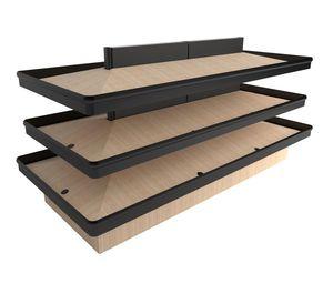 estantería profesional para comercio / para frutas y hortalizas / estándar / de madera