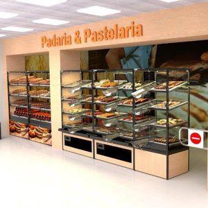 estantería profesional para panadería / estándar / modular / de madera