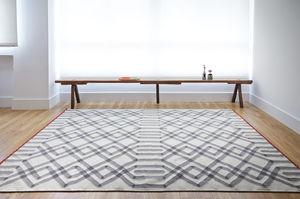 alfombra contemporánea / con motivos barrocos / de lana / rectangular
