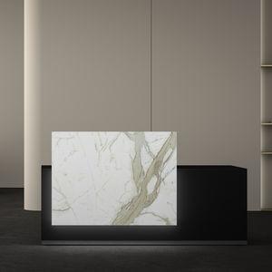 mostrador de recepción modular / de esquina / de vidrio / de melamina