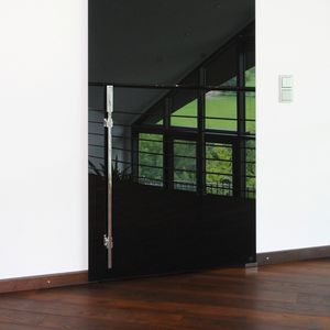 tirador de puerta para puerta corredera / de acero inoxidable pulido / contemporáneo / para uso residencial