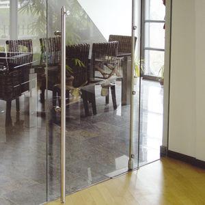 tirador de puerta para puerta de cristal / para puerta corredera / de acero inoxidable / contemporáneo