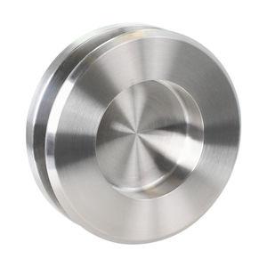 manilla para puerta corredera / para puerta de cristal / de acero inoxidable / contemporánea