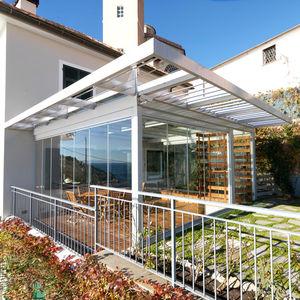 cerramiento de terraza de acero galvanizado