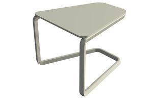 mesa de centro contemporánea / de metal / trapezoidal / de jardín