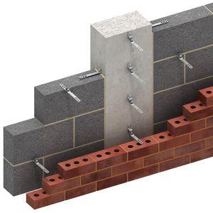 sistema de fijación de metal / para revestimiento de fachada / para fachada ventilada / para exterior