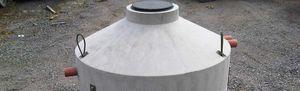tanque enterrado / de agua de lluvia / de hormigón