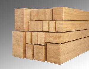 viga prefabricada / de madera maciza / de castaño / de iroko