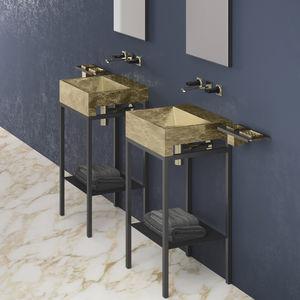 mueble de lavabo de pie / de metal / de VetroFreddo® / contemporáneo