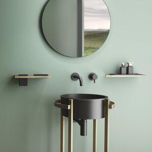 mueble de lavabo de pie / de acero inoxidable / de VetroFreddo® / de diseño minimalista