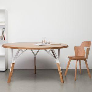 mesa contemporánea / de madera lacada / de roble / de madera maciza