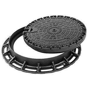 tapadera de inspección de hierro fundido / redonda / con rejilla de ventilación
