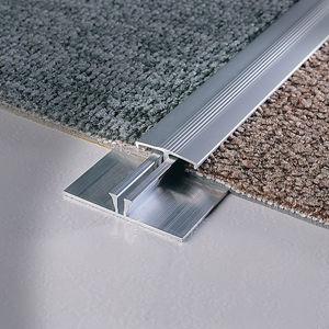 perfil de acabado de aluminio / de latón / para moqueta