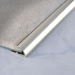 perfil de acabado de aluminio / de latón / para moqueta / cuarto de círculo