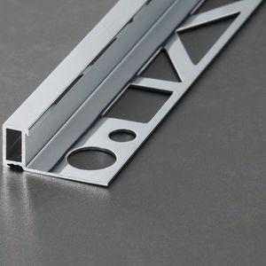 perfil de acabado aluminio / para baldosas / para ángulo exterior / para ángulo interior