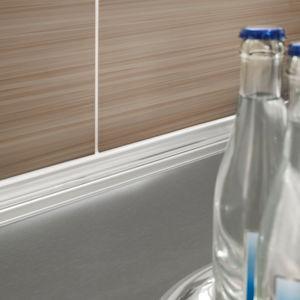 perfil de acabado de aluminio anodizado / de acero inoxidable / para baldosas / para ángulo interior
