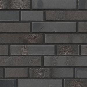fachaleta de ladrillo de clinker / para fachada / negro