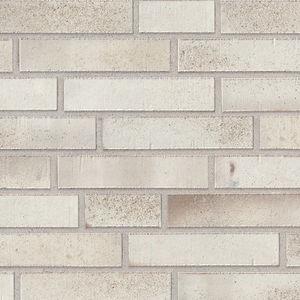 fachaleta de ladrillo de clinker / para fachada / blanco