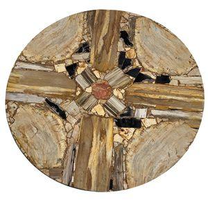 tablero de mesa de madera fosilizada