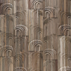 revestimiento de pared de teca