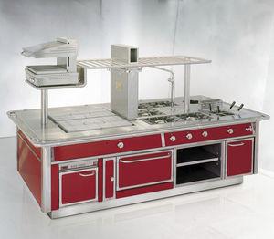 cocina profesional de acero inoxidable