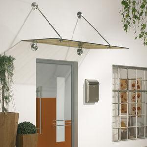 marquesina para puerta / de vidrio / de metal / para el sector servicios