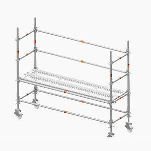 andamio de aluminio / enrollable / de grand altura