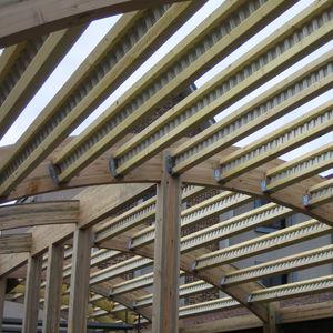 viga prefabricada / mixta / de madera / de acero galvanizado