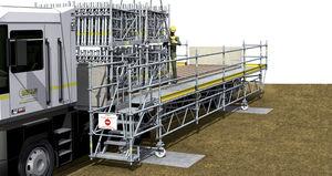 plataforma de trabajo / de exterior / 2 niveles / modular