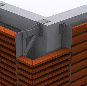 sistema de anclaje de metal / para fachada ventilada / para revestimiento de fachada