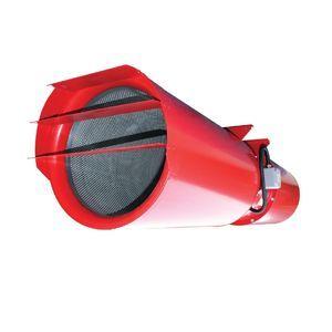 ventilador extractor de humos de uso / axial / de techo / profesional