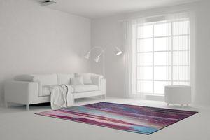 alfombra contemporánea / con motivos / de poliamida / rectangular