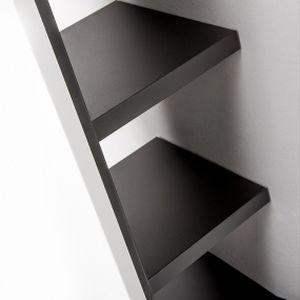 estantería mural / contemporánea / de acero / aluminio