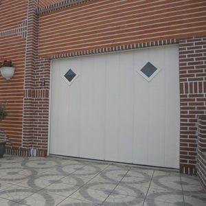 puertas de garaje correderas / de aluminio / de acero inoxidable / de espuma de poliuretano