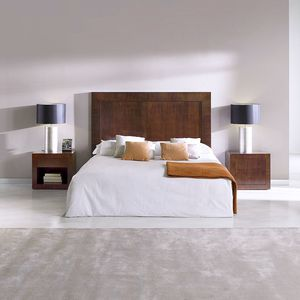 cabecero para cama doble / contemporáneo / de nogal