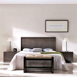 cabecero para cama doble / contemporáneo / de nogal / de haya