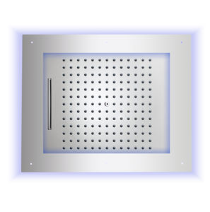 rociador de ducha con cromoterapia / de techo / rectangular / lluvia