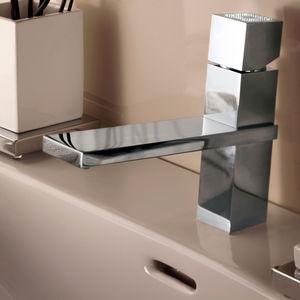 grifo monomando para lavabo / de metal cromado / de cristal Swarovski® / mecánico