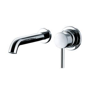 grifo monomando para lavabo / de pared / de metal cromado / de baño