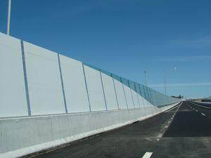 muro antirruido para la construcción de puentes