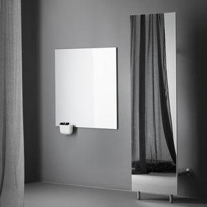 armario de pared / contemporáneo / de vidrio / de acero